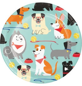 """creative converting Dog Party 7"""" Plate - 8ct."""