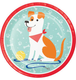 """creative converting Dog Party 9"""" Plate - 8ct."""