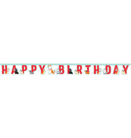 creative converting Dog Party Birthday Banner - 7ft.