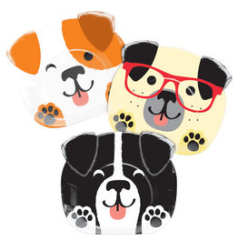creative converting Dog Party Shaped Plates - 8ct.