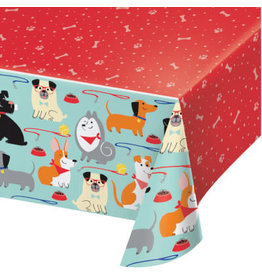"creative converting Dog Party Tablecover 54"" x 102"""