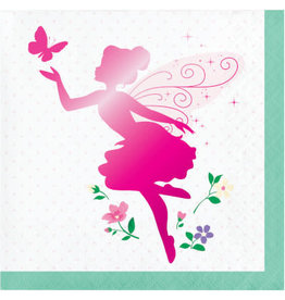 creative converting Floral Fairy Sparkle Bev. Napkins - 16ct.