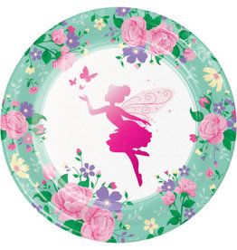 "creative converting Floral Fairy Sparkle 9"" Plate - 8ct."