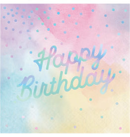 creative converting Iridescent Happy Birthday Lun. Napkins - 16ct.
