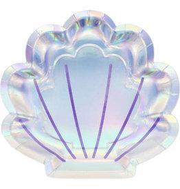 creative converting Mermaid Shine Shell Plates - 8ct.