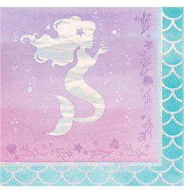 creative converting Mermaid Shine Lun. Napkins - 16ct.