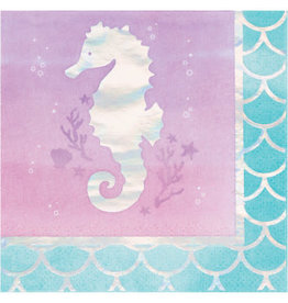 creative converting Mermaid Shine Bev. Napkins - 16ct.