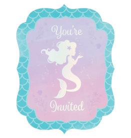 creative converting Mermaid Shine Invites - 8ct.