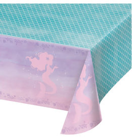 "creative converting Mermaid Shine Tablecover 54"" x 102"""
