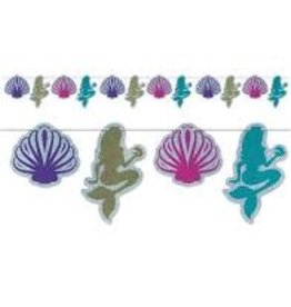 Beistle Mermaid and Seashell Banner - 12ft.
