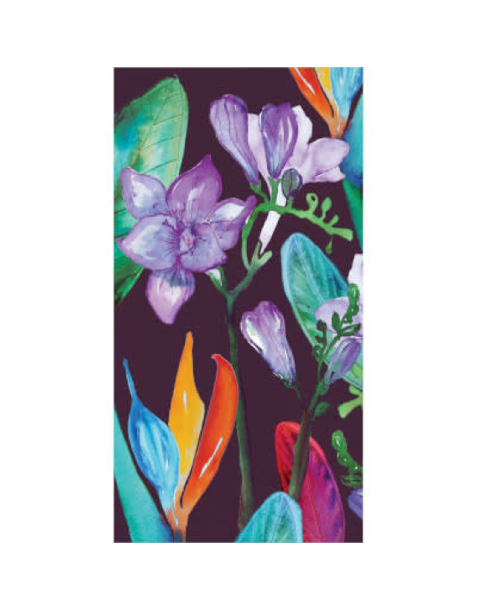 elise Bold Tropic Blooms Guest Towels - 16ct