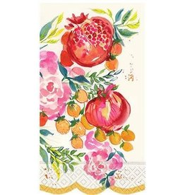 design design Pomegranate and Flowers GuestTowels - 12ct.