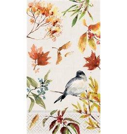 design design Autumn Chickadee Guest Towel