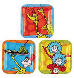"""Amscan Dr. Seuss 7"""" Plates - 8ct."""