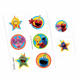 Amscan Sesame Street 2 Tattoos - 8ct.