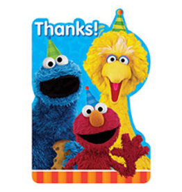 Amscan Sesame Street 2 Thank You's - 8ct.
