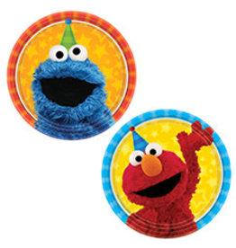 "Amscan Sesame Street 2 7"" Plates - 8ct."