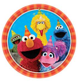 "Amscan Sesame Street 2 9"" Plates - 8ct."