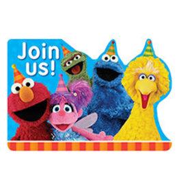 Amscan Sesame Street 2 Invites - 8ct.