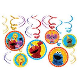 Amscan Sesame Street 2 Swirls - 12ct.