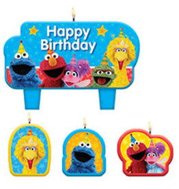 Amscan Sesame Street 2 Candle Set - 4ct.