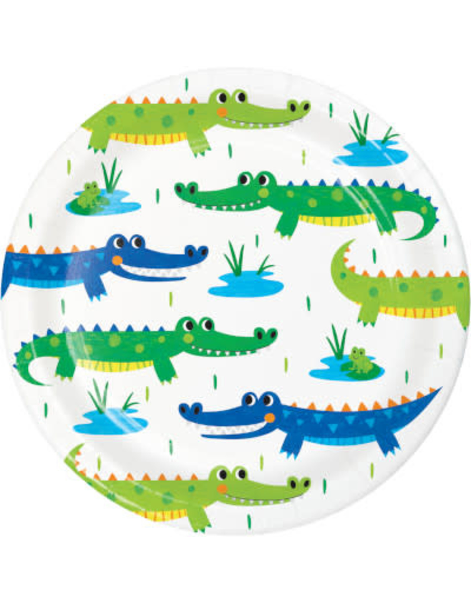 """creative converting Alligator Party 7"""" Plate - 8ct."""