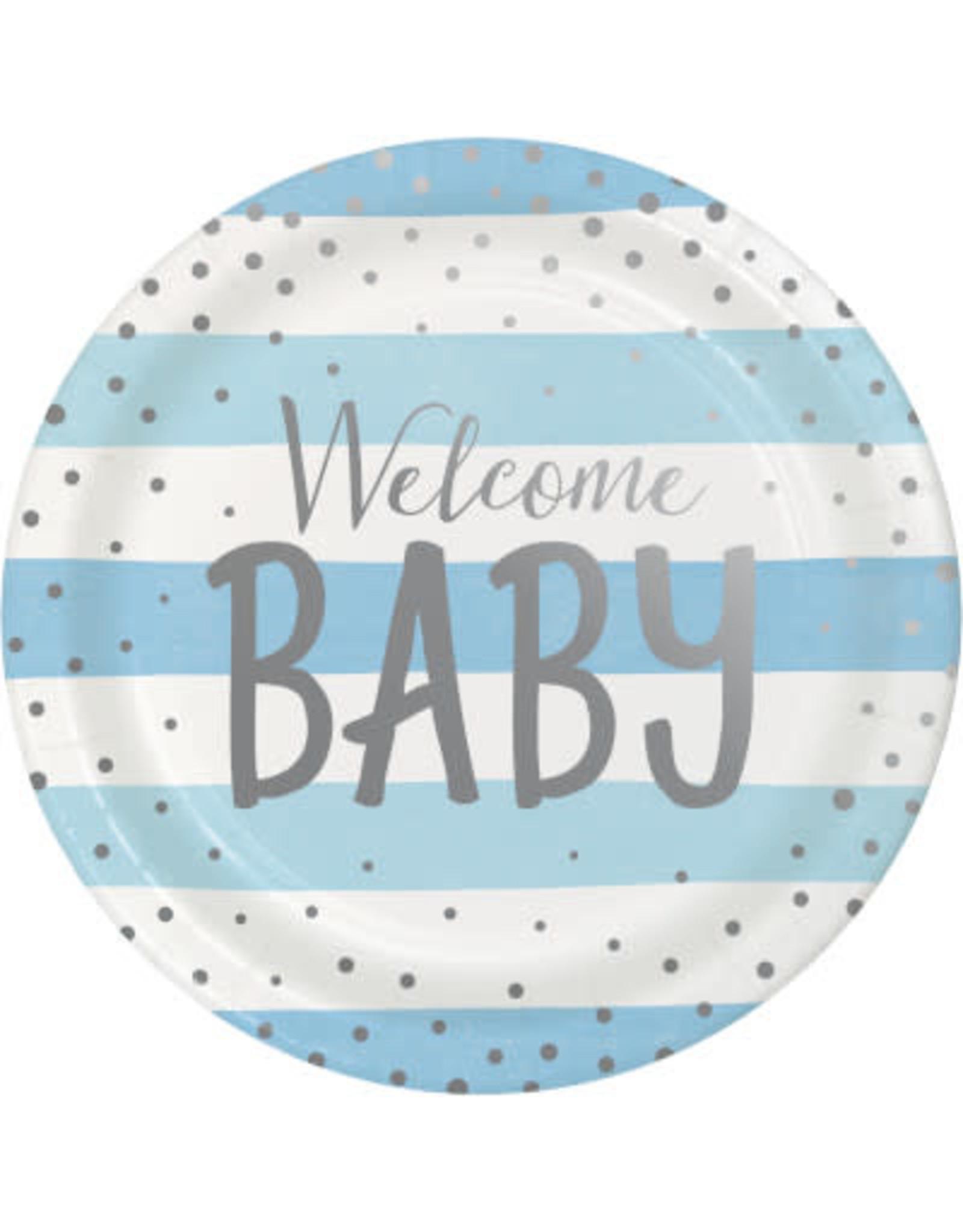 "creative converting Baby Blue Celebration 9"" Plate"