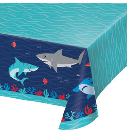 """creative converting Shark Party Tablecover 54"""" x 102"""""""