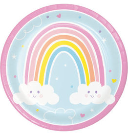 "creative converting Happy Rainbow 9"" Plates - 8ct."
