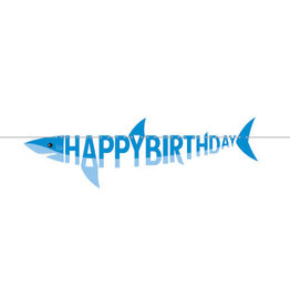 creative converting Shark Party Shaped Banner - 5.5ft.