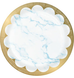 """creative converting Blue Marble 7"""" Plates - 8ct."""