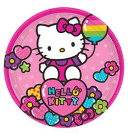 "Amscan Hello Kitty Rainbow 7"" Plates - 8ct."