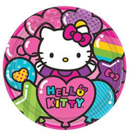 "Amscan Hello Kitty Rainbow 9"" Plates - 8ct."