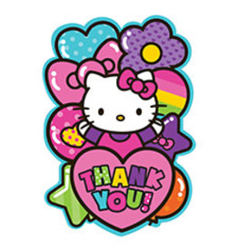 Amscan Hello Kitty Rainbow Thank You's - 8ct.