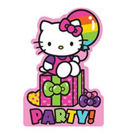 Amscan Hello Kitty Rainbow Invites - 8ct.