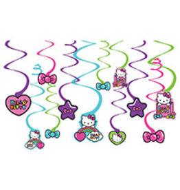 Amscan Hello Kitty Rainbow Swirls - 12ct.