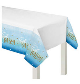 """Amscan Oh Baby Boy Tablecover 54"""" x 102"""""""