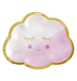 """Amscan Oh Baby Girl 7"""" Plates - 8ct."""