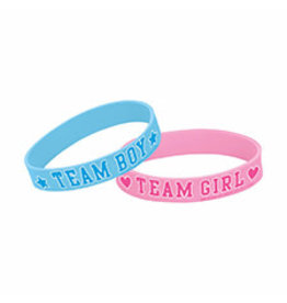 Amscan BRACELETS RUBBER GIRL OR BOY? 6ct.