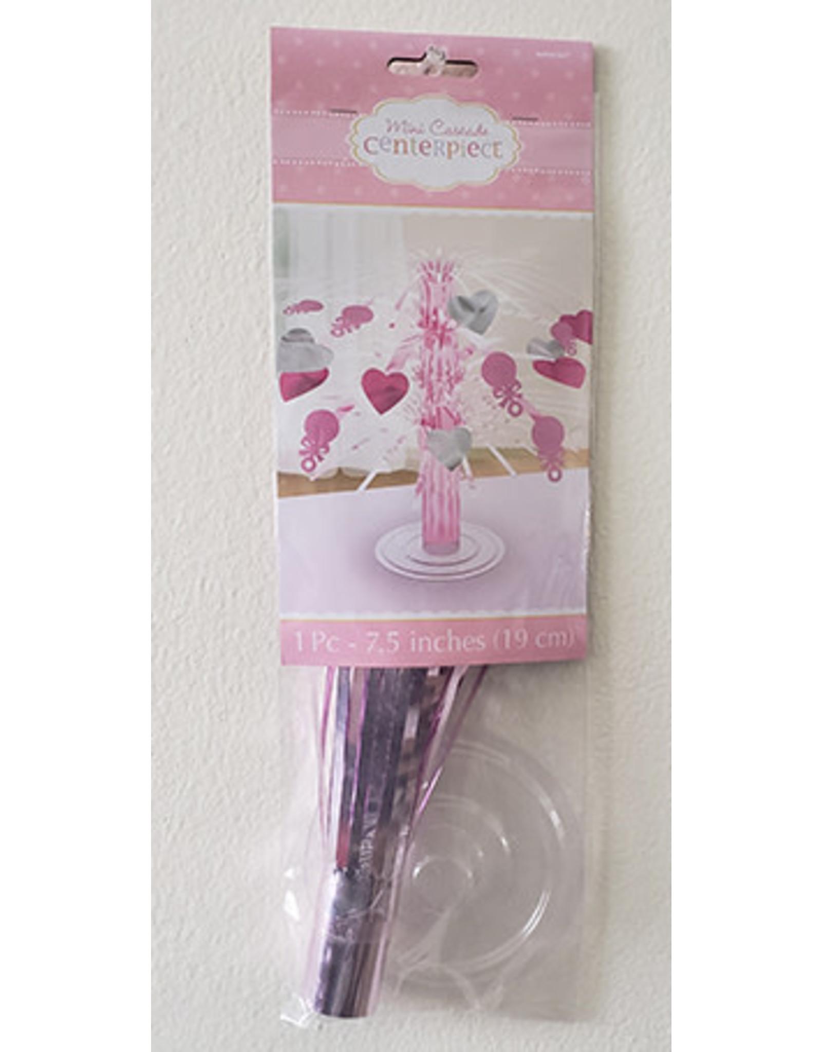 "Amscan Baby Girl Pink Mini Cascade - 7.5"""