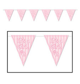 Beistle It's A Girl! Pennant Banner - 12ft.