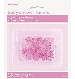 unique Pink Pacifier Favors - 18ct.
