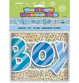 unique Its A Boy Banner - 9ft.