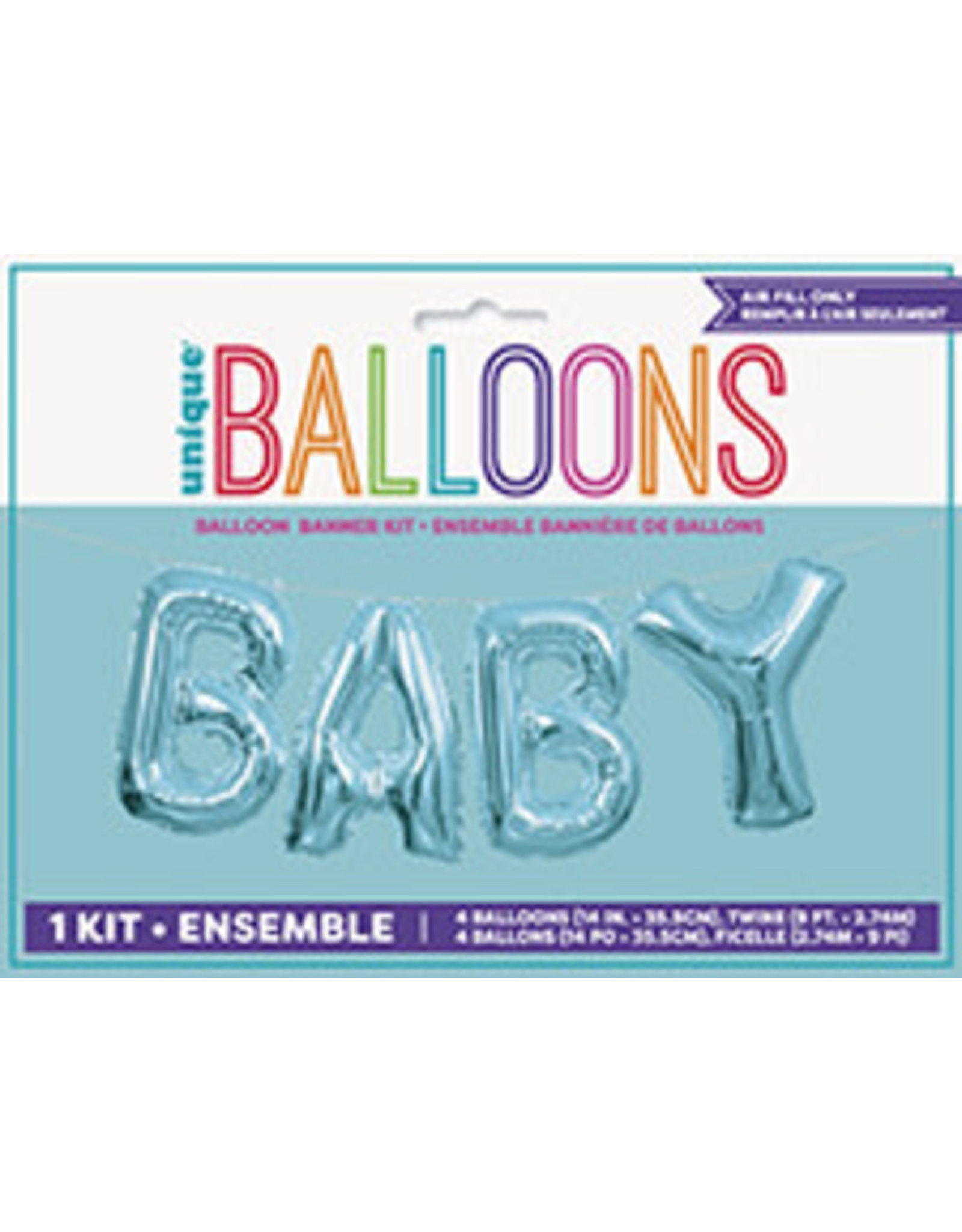 unique Baby Balloon Banner Kit - Air Filled