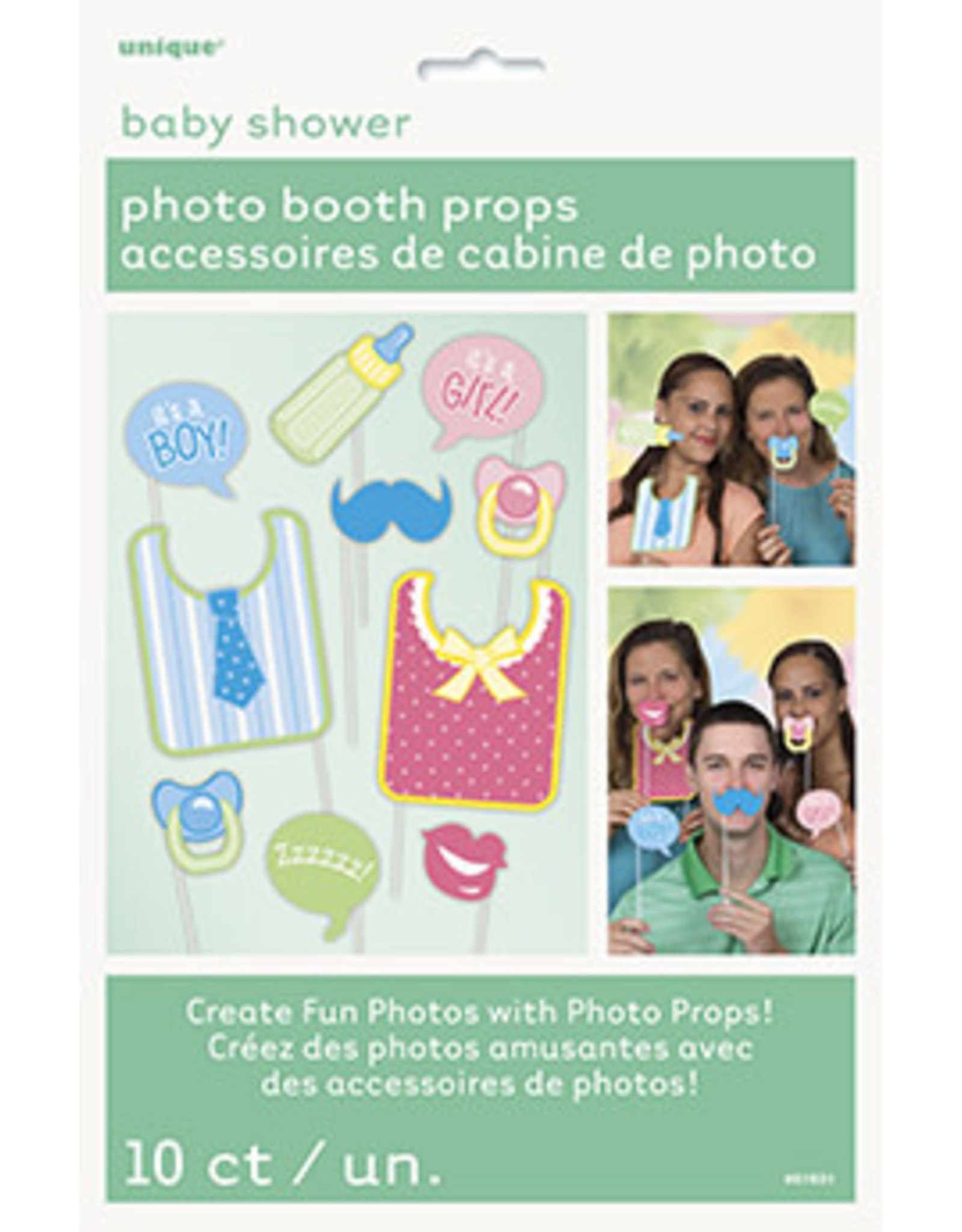 unique Baby Shower Photo Booth Props - 10ct.