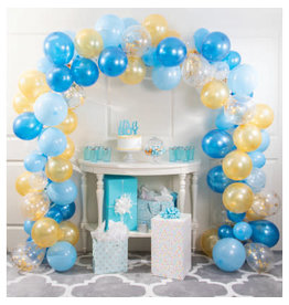 creative converting Blue & Gold Balloon Arch Kit  - 16ft