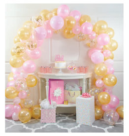 creative converting Pink & Gold Balloon Arch Kit - 16ft.