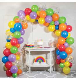 creative converting Rainbow Balloon Arch Kit - 16ft.