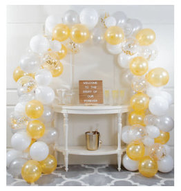 creative converting White & Gold Balloon Arch Kit - 16ft.