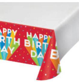 "creative converting Big Birthday Bash Tablecover 48"" x 88"""